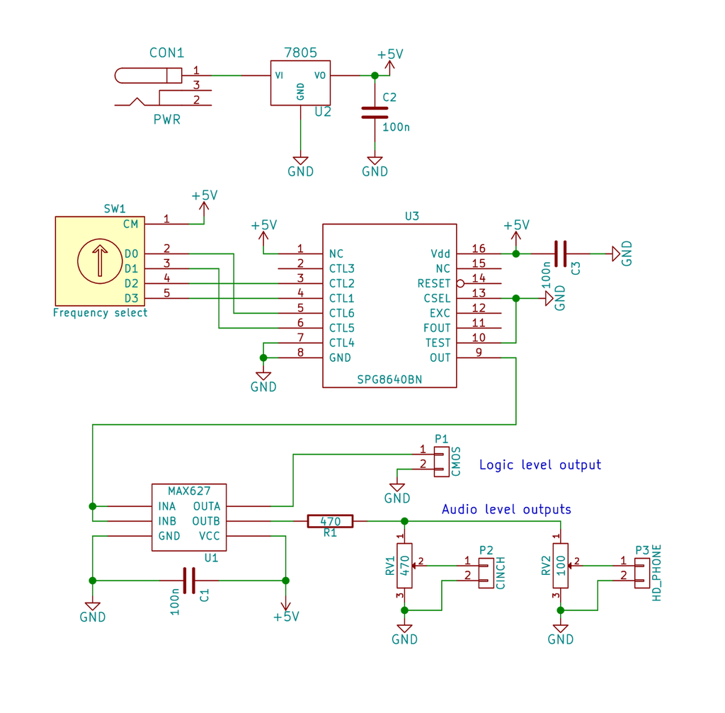 Audio Frequency Generator Circuit To Sine Wave Converter Diagram Electronic Circuits Following Projects Have Found Web Sites Simple Source N898 Tone The Regulation Achieved Square