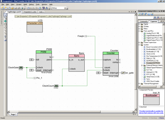 PSoC5 version of the schematic