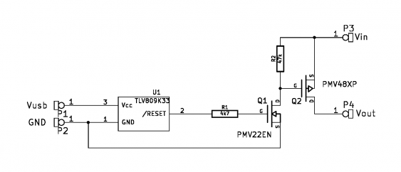 USB-Disk auto-power-off schematic