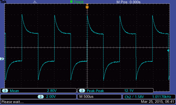 uncompensated 1 kHz signal for the iMSO scope probe