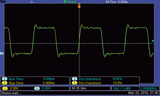13 MHz square wave on TBS1052B-EDU