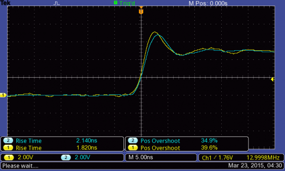 single 13 MHz square wave on TBS1202B-EDU