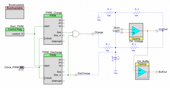 detailed schematic as implemented in PSoC4